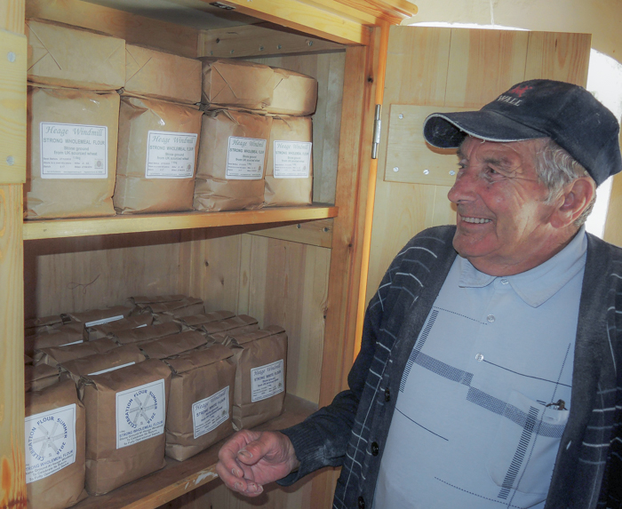 John Lea, Flour Manager & Miller, milled all day last Monday and, as a result, bagged flour has appeared in the cupboards for the first time since last August.