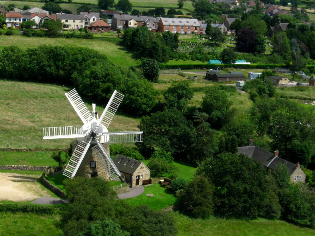 Heage Windmill from above.