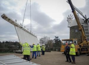 Heage Windmill - Sails Off Nov 26 004