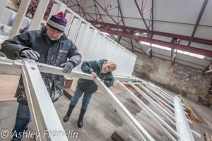 Heage Windmill Sail Restoration - Feb 2016 12