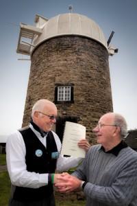 Heage Windmill - Derbys CC Cheque + Lease 005